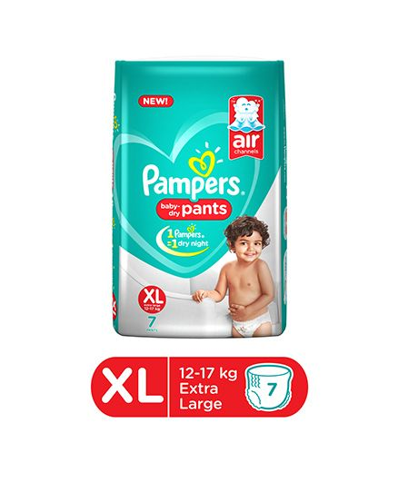Pampers Baby Dry Pant Style Diapers Extra Large - 7 Pieces