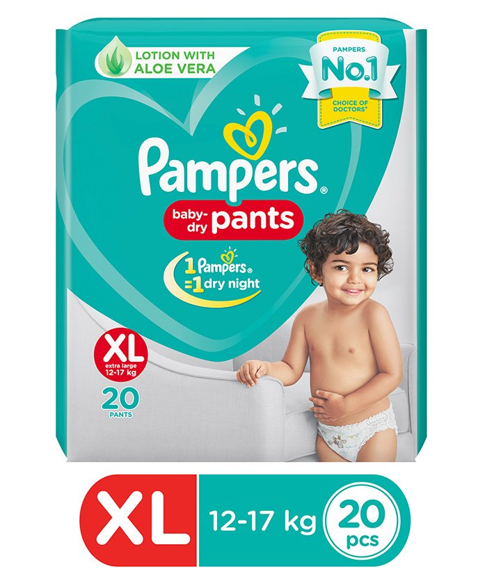 Pampers Baby Dry Pant Style Diapers Extra Large - 20 Pieces
