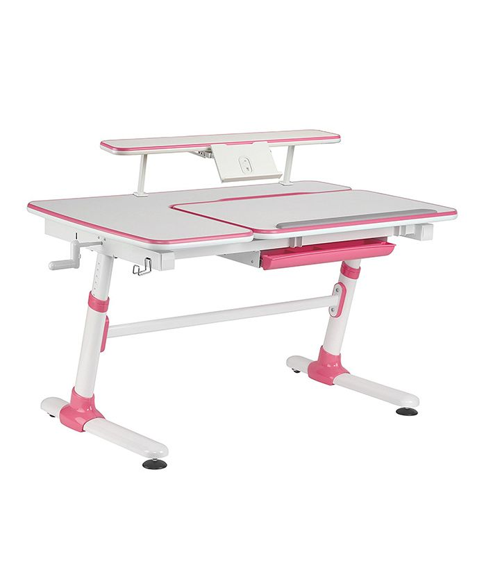 Kidomate Study Table With Height Adjustment - Pink