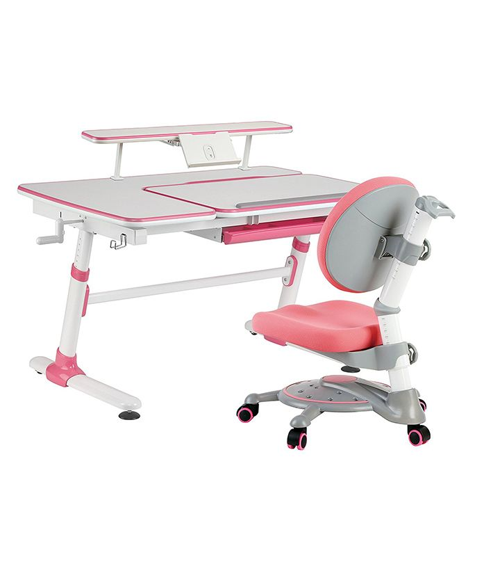 Kidomate Ergonomic Study Table With Chair - Pink