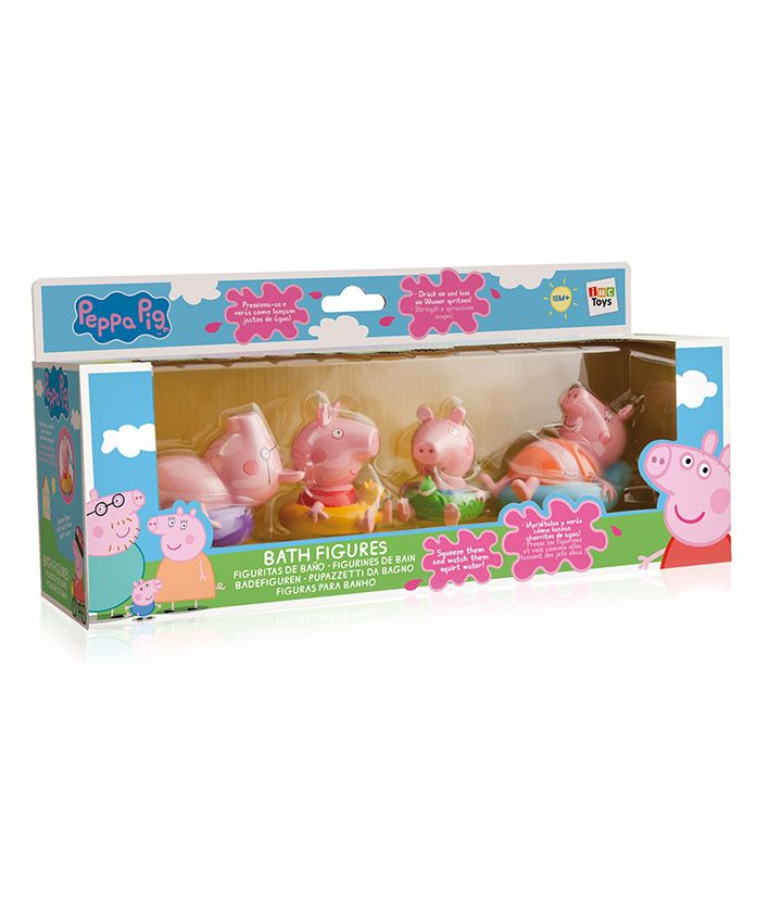 IMC Toys Peppa Pig Bath Toys Multicolor - Pack Of 4
