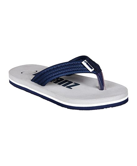 Beanz Bond Flip Flop - Lt.Grey & Navy ( 7 to 8 Years)