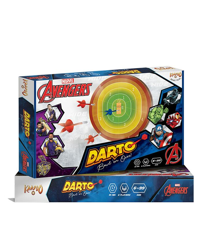 Marvel Avengers Magnetic Dart Cricket Game - Multicolour
