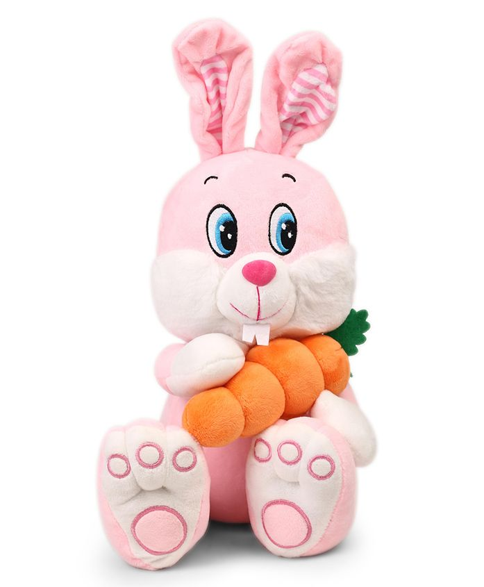Starwalk Cute Bunny Plush Soft Toy With Carrot Pink - Height 27 cm