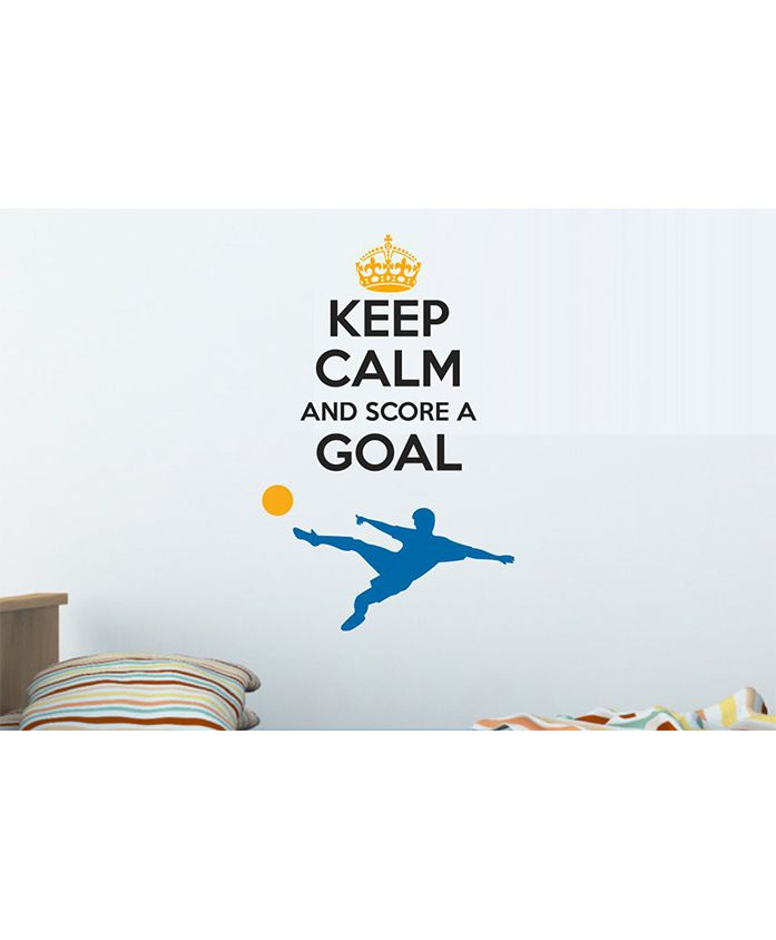 Asian Paints Keep Calm Quotes Wall Sticker - Multi Color