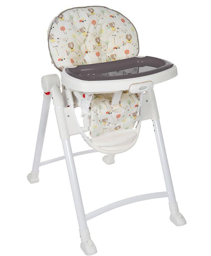 Graco Contempo High Chair Ted & Coco Print - White Grey