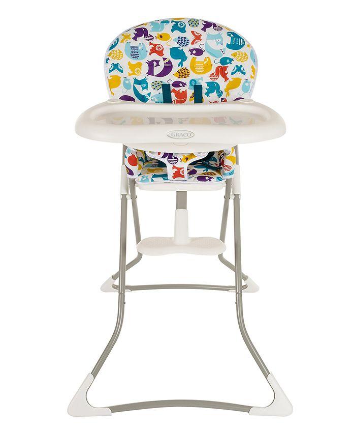 Graco High Chair With Adjustable Feeding Tray Animal Print - Multicolour
