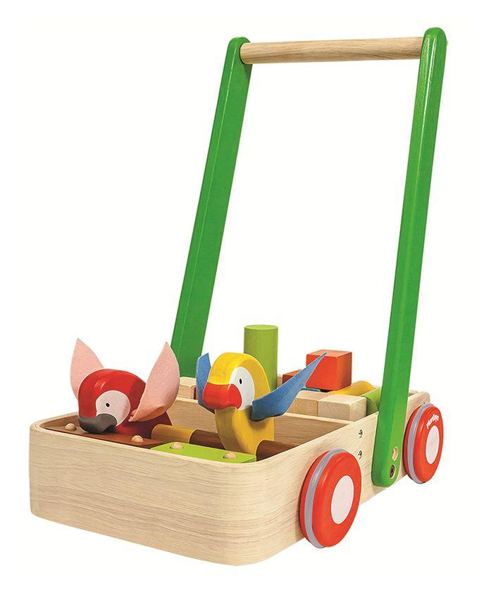 Plan Toys Wooden Bird Walker - Beige & Green