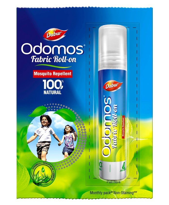 Dabur Odomos Mosquito Repellent Fabric Roll On - 8 ml