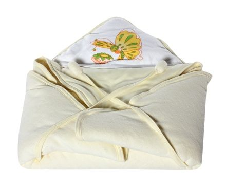 Tinycare - Hooded Baby Towel with Butterfly Print