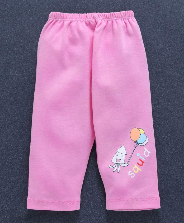 Tango Full Length Lounge Pant Squid Print - Light Pink