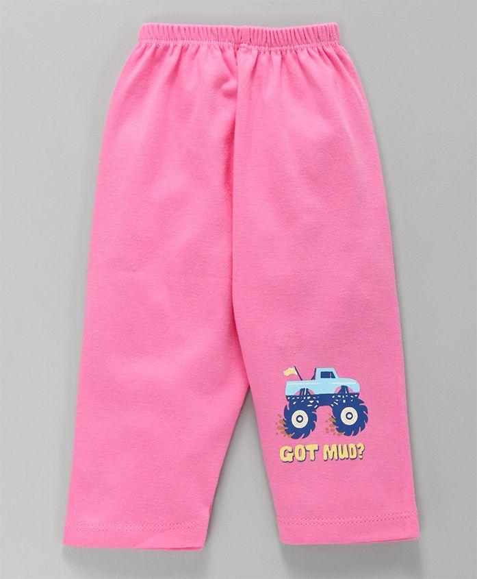 Tango Full Length Lounge Pant Monster Truck Print - Pink