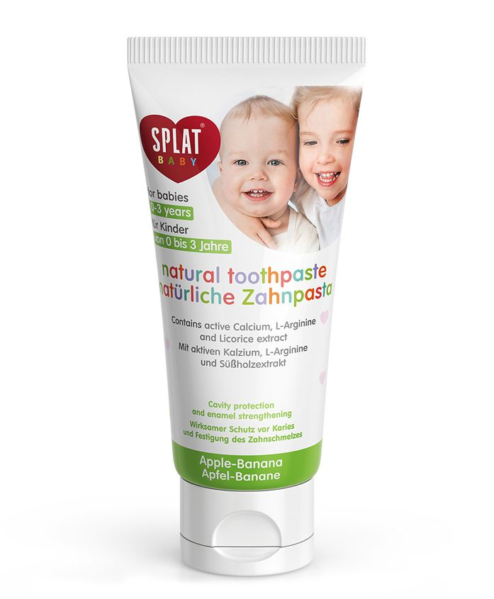 Splat Babys Natural Toothpaste Apple-Banana With Tooth Brush - 40 ml