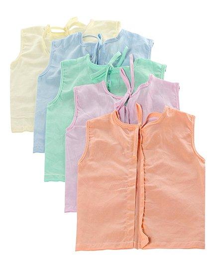 Tinycare Sleeveless Vest - Set Of 5