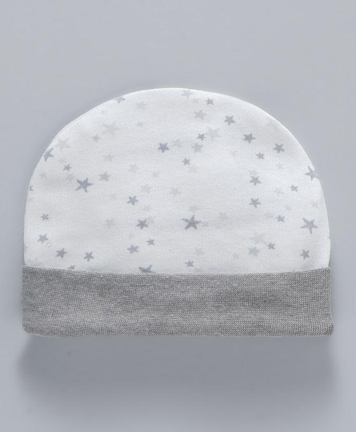 Ben Benny Round Cap Star Design - Grey White