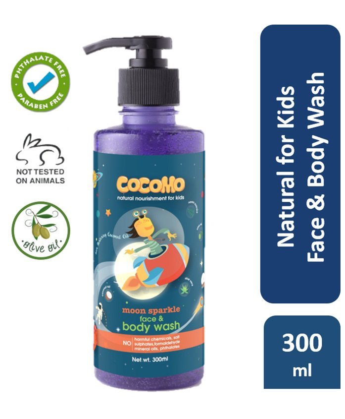 Cocomo Moon Sparkle Face & Body Wash - 300 ml