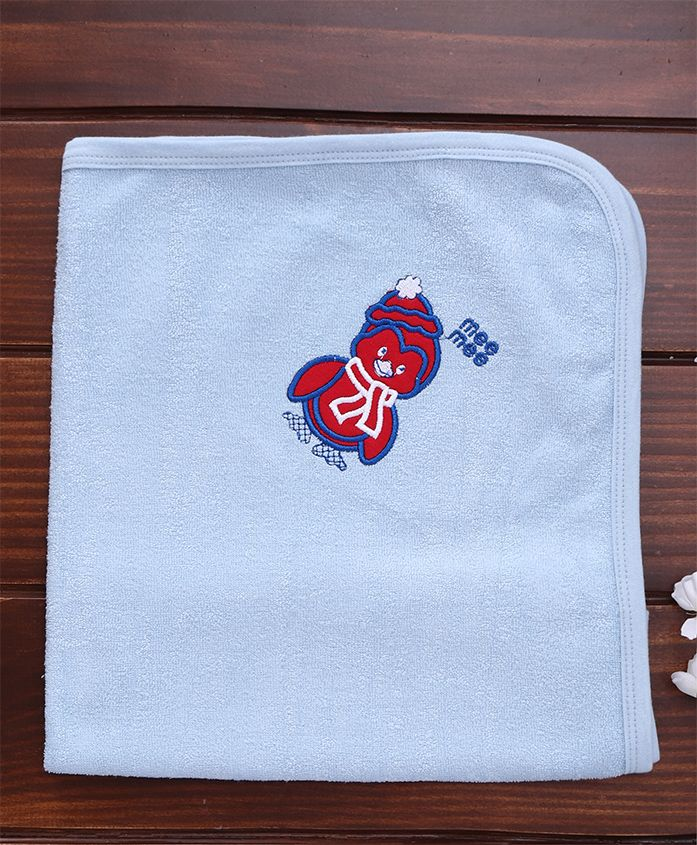 Mee Mee Soft Absorbent Baby Towel - Blue