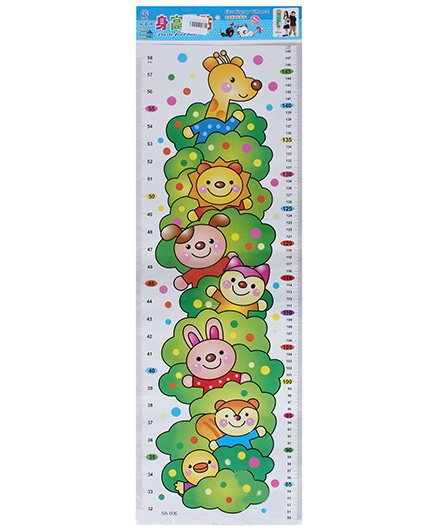 Fab N Funky - Height Measurement Sticker in Teddy Print