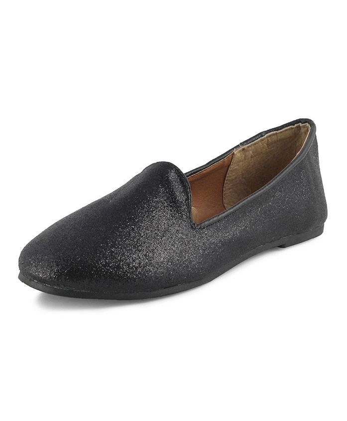 Kittens Shoes Shimmer Loafers - Black