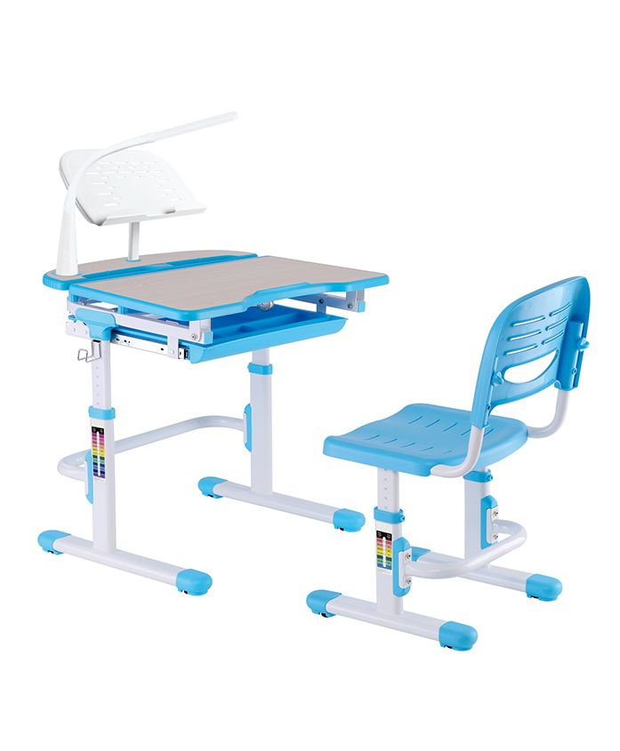 Kidomate Height Adjustable Study Table & Chair - Blue
