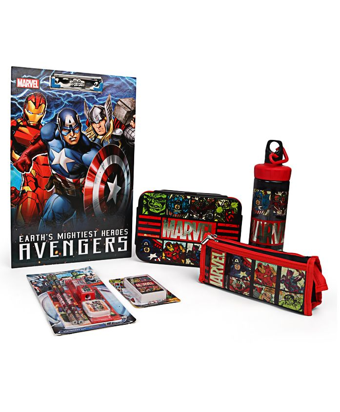 Marvel Avengers School Kit Pack of 6 - Red