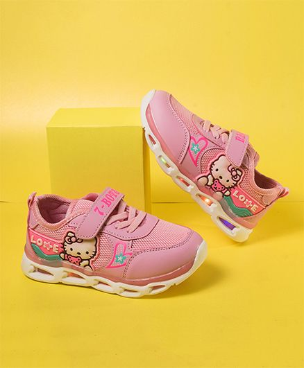 Little Maira Hello Kitty Sports Shoes With LED Lights - Pink