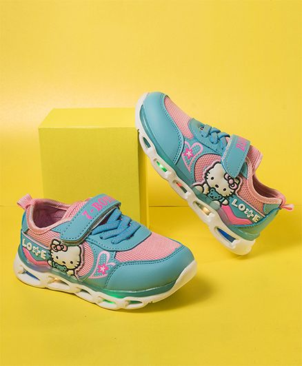 Little Maira Hello Kitty Sports Shoes With LED Lights - Blue