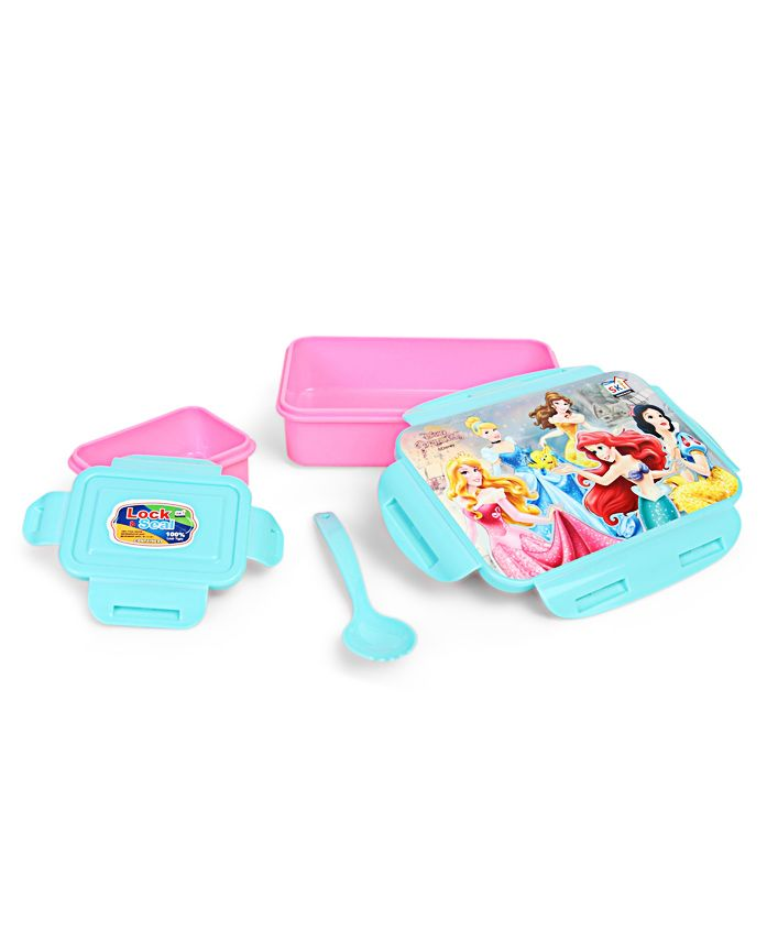 Disney Princess Lunch Box With Clip Lock - Pink