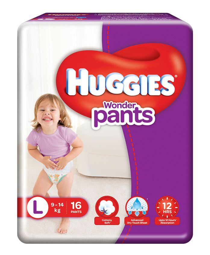 Huggies Wonder Pants Large Size Diapers - 16 Pieces