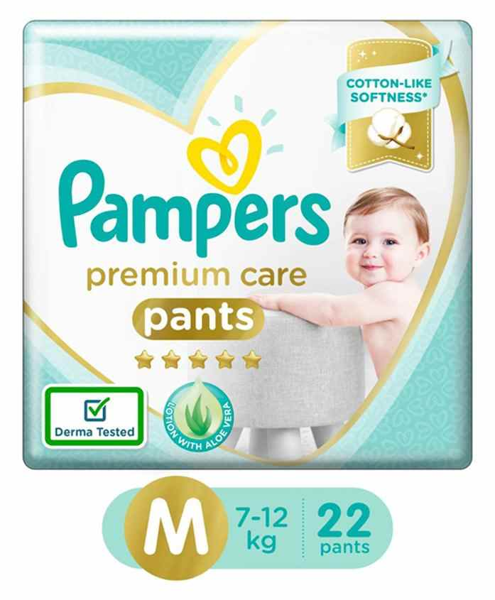 Pampers Premium Care Pant Style Diapers Medium Size - 22 Pieces