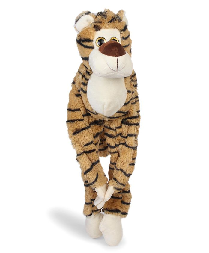 Starwalk Hanging Tiger Plush Soft Toy Black & Brown - Height 23 cm