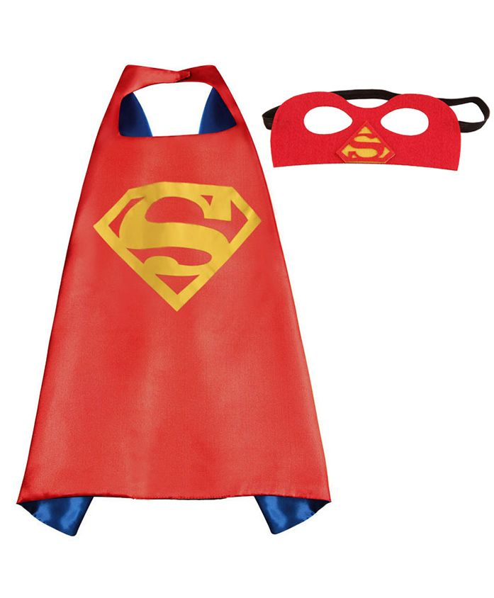 Party Anthem Super Man Cape And Mask - Red