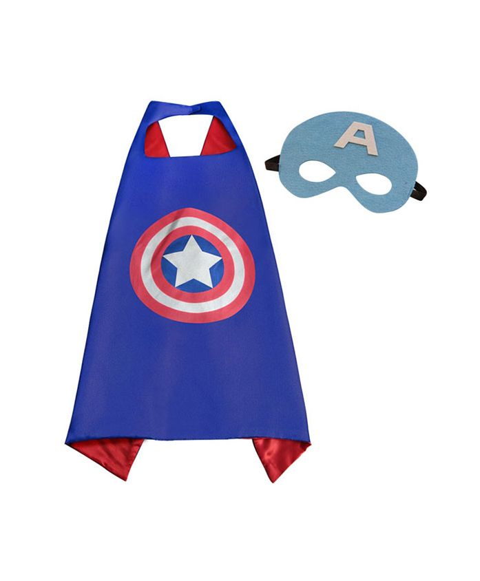 Party Anthem Captain Ameriaca Cape And Mask - Blue