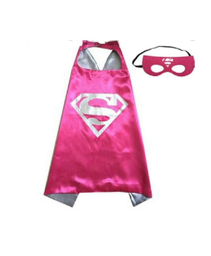 Party Anthem Super Man Cape And Mask - Pink
