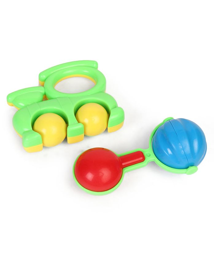 Dr. Toy Baby Rattle Set Pack of 2 - Multi Color