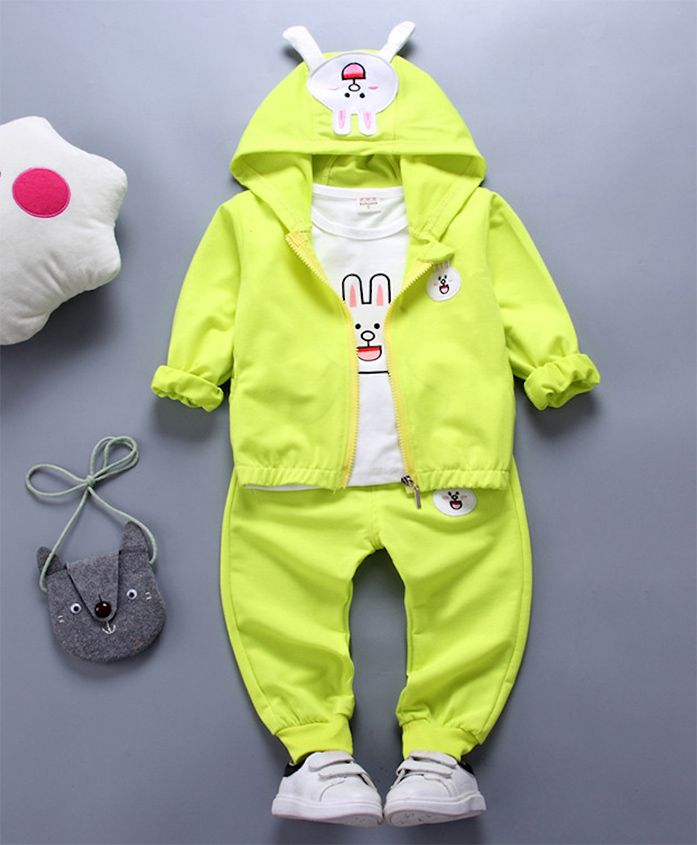 Pre Order - Awabox Rabbit Theme Top & Bottom Set With Jacket - Green