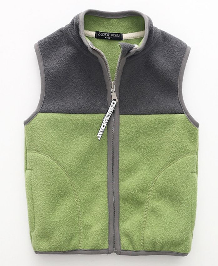 Pre Order - Awabox Dual Shade Sleeveless Jacket - Green Navy Blue
