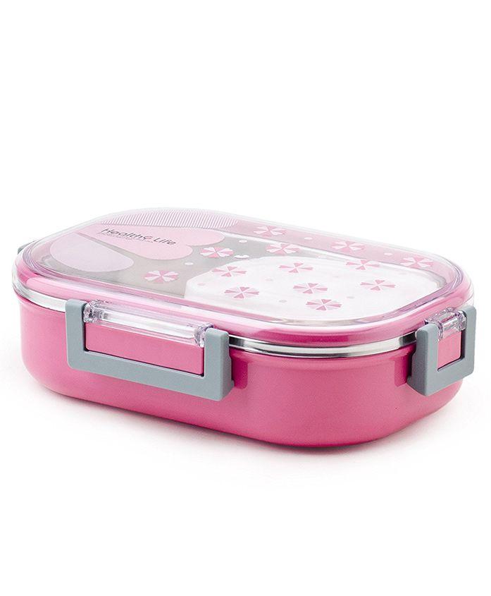 Kidofash Rectangle Shape Lunchbox - Pink