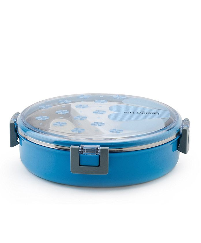 Kidofash Round Shaped Lunch Box - Blue