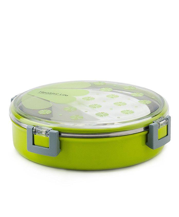 Kidofash Round Shaped Lunch Box - Green