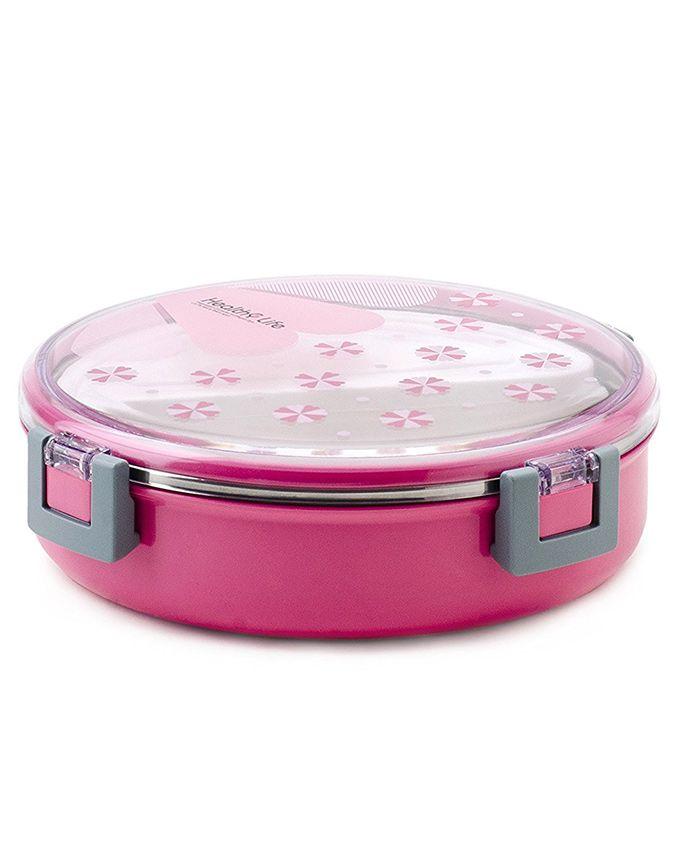 Kidofash Round Shaped Lunch Box - Pink