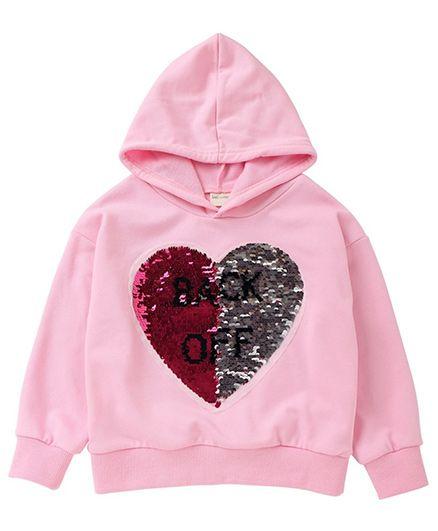 Pre Order - Awabox Heart Applique Hoodie - Pink