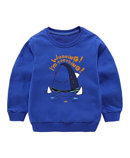 Pre Order - Awabox Shark Printed Sweatshirt - Blue