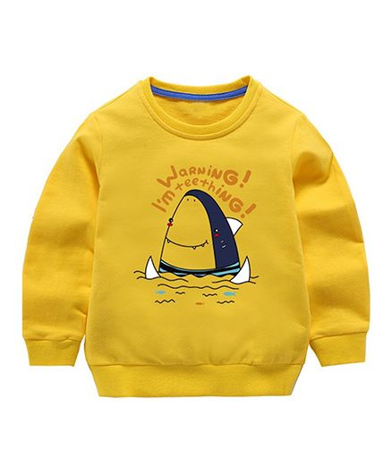 Pre Order - Awabox Shark Printed Sweatshirt - Yellow