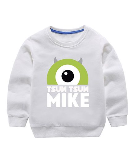 Pre Order - Awabox Mike Printed Sweatshirt - White