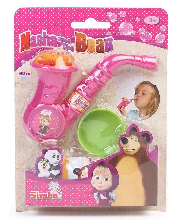 Simba Masha Bubble Saxophone 60 ml - Pink