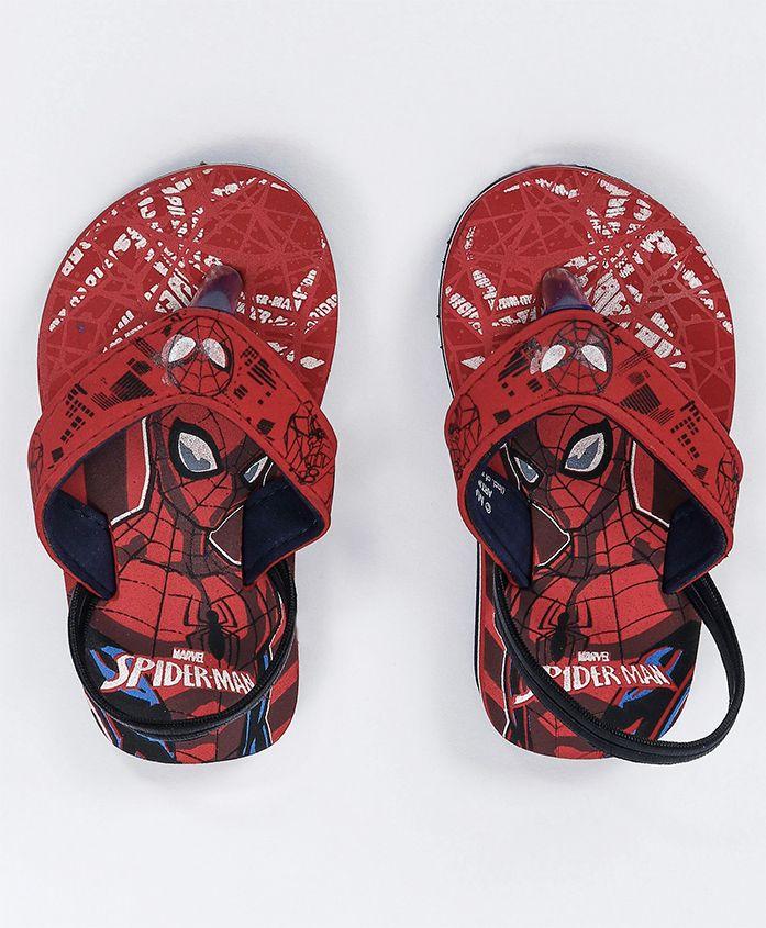 Marvel Spider Man Flip Flops With Back Strap - Red