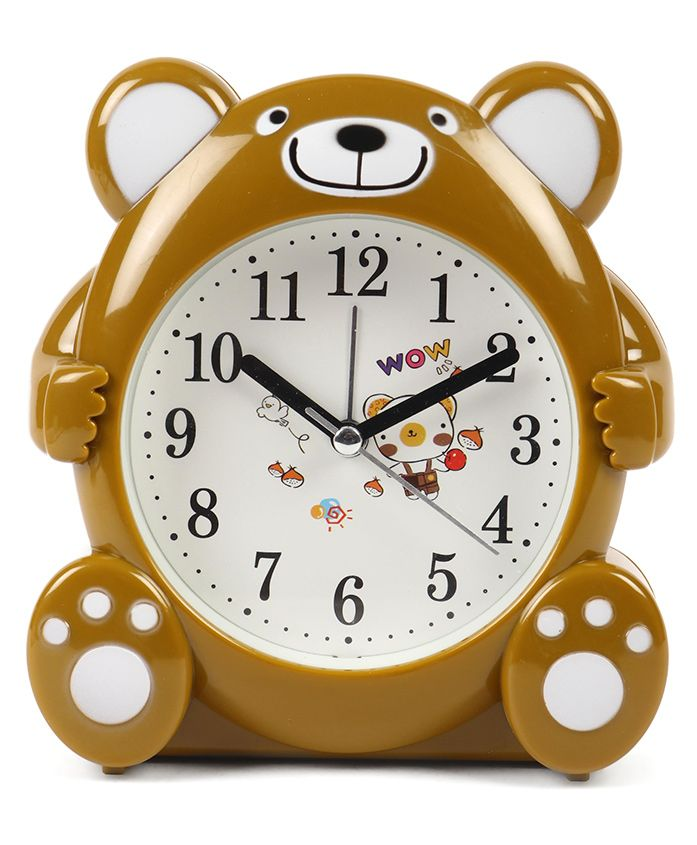 Bear Shaped Alarm Clock - Brown
