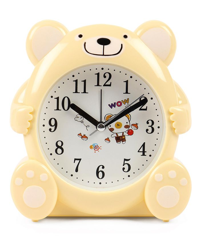 Bear Shaped Alarm Clock - Cream