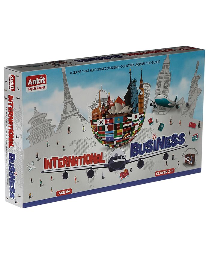 Ankit Toys Classic International Business Board Game With International Currency- Multicolour